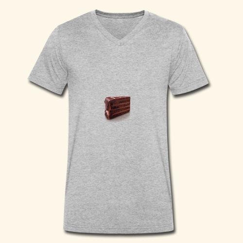 chocolate cake - Men's Organic V-Neck T-Shirt by Stanley & Stella