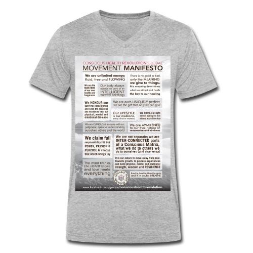 Movement Manifesto - Men's Organic V-Neck T-Shirt by Stanley & Stella