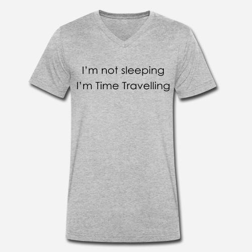 Time Travelling - Men's Organic V-Neck T-Shirt by Stanley & Stella