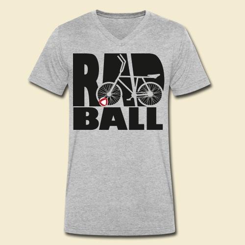 Radball | Typo Black - Männer Bio-T-Shirt mit V-Ausschnitt von Stanley & Stella
