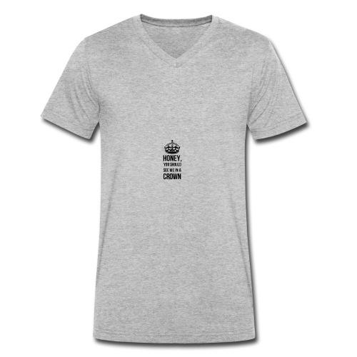 Honeyyy - Männer Bio-T-Shirt mit V-Ausschnitt von Stanley & Stella
