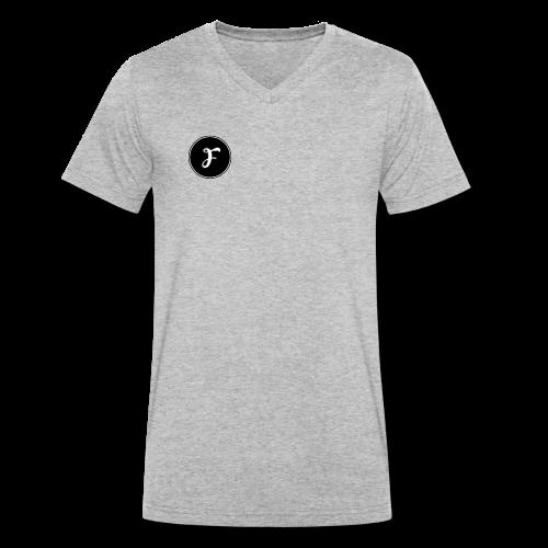 FluxCrew Logo - Men's Organic V-Neck T-Shirt by Stanley & Stella