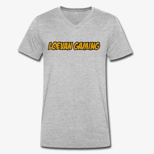 logo classique jaune moutarde - T-shirt bio col V Stanley & Stella Homme