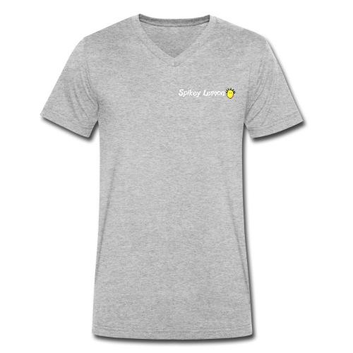 Spikey Lemon Clear White - Men's Organic V-Neck T-Shirt by Stanley & Stella