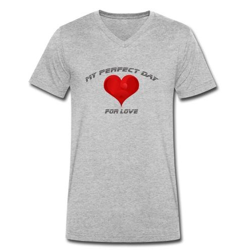 Mein Herzblatt finden - Männer Bio-T-Shirt mit V-Ausschnitt von Stanley & Stella