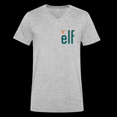 No. elf Logo - Männer Bio-T-Shirt mit V-Ausschnitt von Stanley & Stella