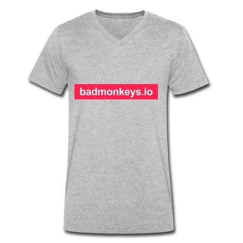 Carry the brand & URL - Männer Bio-T-Shirt mit V-Ausschnitt von Stanley & Stella