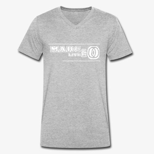 Marc&O_LivE schwarz - Männer Bio-T-Shirt mit V-Ausschnitt von Stanley & Stella