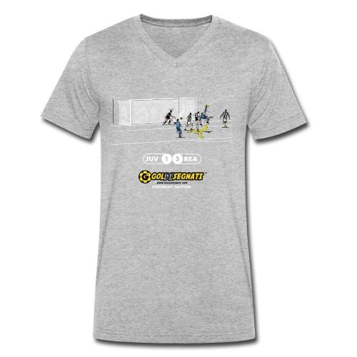 JUV-REA 1-3 Il Gol dell'asso portoghese - T-shirt ecologica da uomo con scollo a V di Stanley & Stella