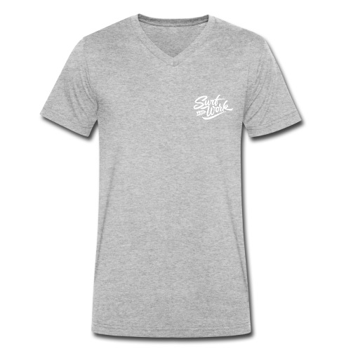 Surf and work logo white solid - Männer Bio-T-Shirt mit V-Ausschnitt von Stanley & Stella