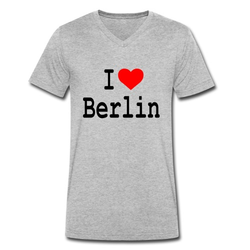 I Love Berlin - Mannen bio T-shirt met V-hals van Stanley & Stella