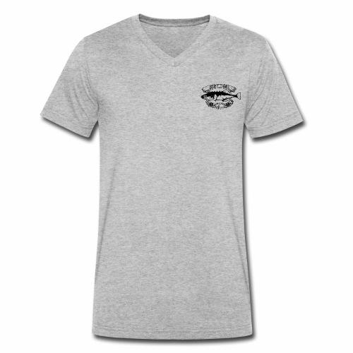Stickleback Black - Männer Bio-T-Shirt mit V-Ausschnitt von Stanley & Stella
