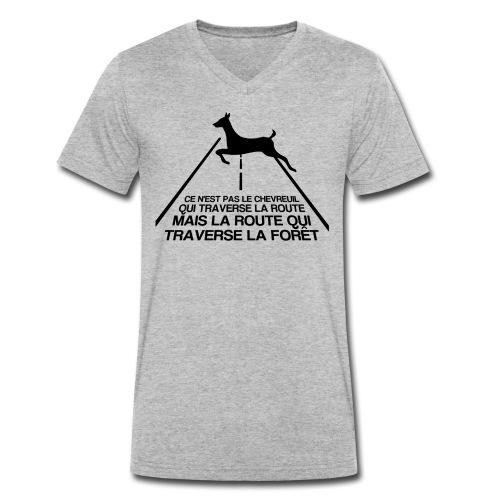 Chevreuil - T-shirt bio col V Stanley & Stella Homme