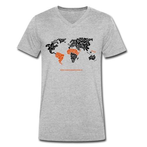 Ontwerp van Leonie Haas Illustratie en Ontwerp - Mannen bio T-shirt met V-hals van Stanley & Stella