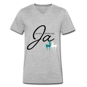 Der Jäger heiratet! - Männer Bio-T-Shirt mit V-Ausschnitt von Stanley & Stella