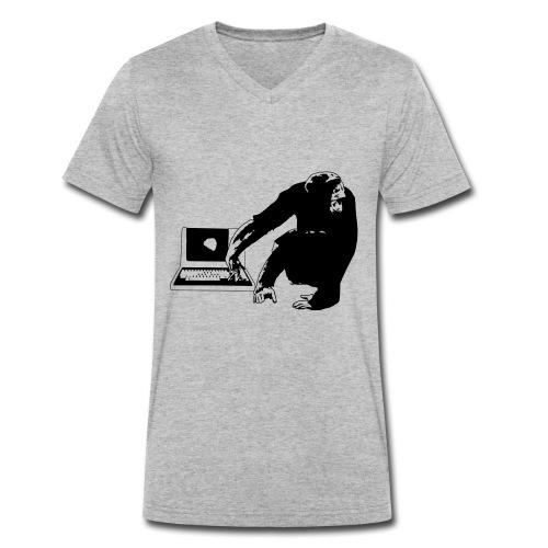 Code ape - Ekologisk T-shirt med V-ringning herr från Stanley & Stella