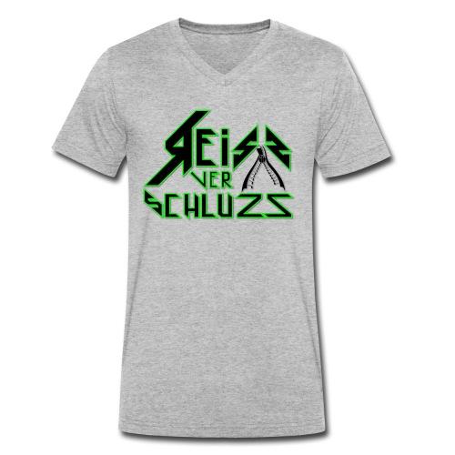 Reissverschluzz Logo - Männer Bio-T-Shirt mit V-Ausschnitt von Stanley & Stella