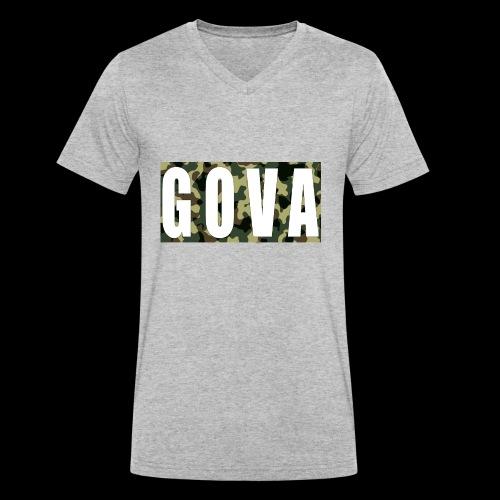 Gova Camouflage - Männer Bio-T-Shirt mit V-Ausschnitt von Stanley & Stella