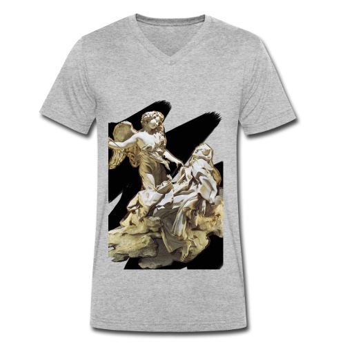Éxtasis de Santa teresa - Camiseta ecológica hombre con cuello de pico de Stanley & Stella