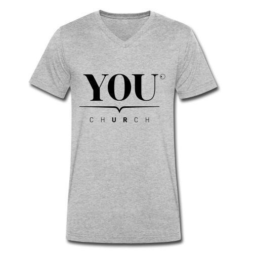 YOU Church (schwarz) - Männer Bio-T-Shirt mit V-Ausschnitt von Stanley & Stella