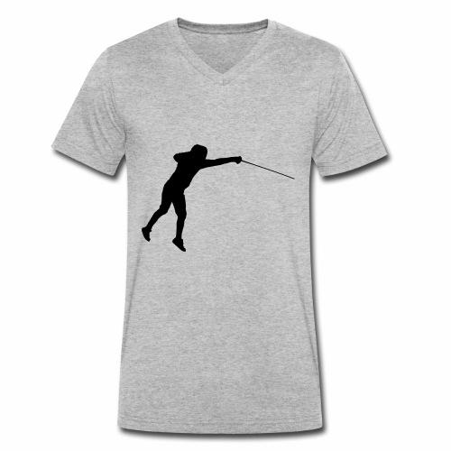 Jumping Fencer - Männer Bio-T-Shirt mit V-Ausschnitt von Stanley & Stella