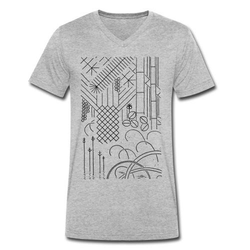 Jungle - Männer Bio-T-Shirt mit V-Ausschnitt von Stanley & Stella