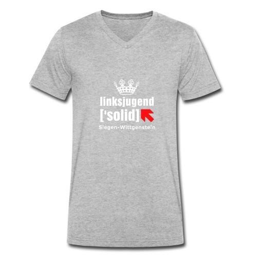 linksjugend ['solid] SiWi Weiß - Männer Bio-T-Shirt mit V-Ausschnitt von Stanley & Stella