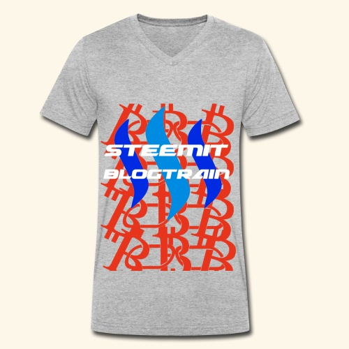 STEEMIT BLOGTRAIN - Men's Organic V-Neck T-Shirt by Stanley & Stella