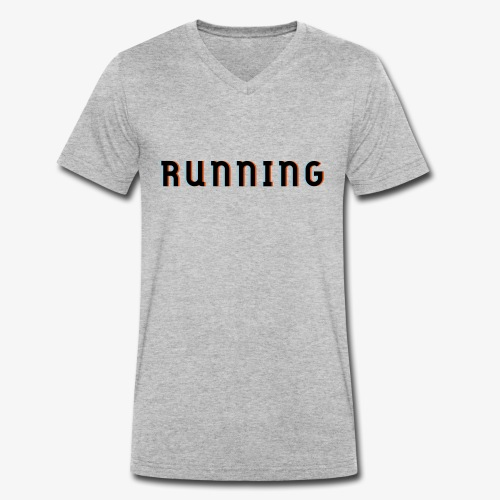 Laufen, 3D Effenk, Geschnk, Geschenkidee - Männer Bio-T-Shirt mit V-Ausschnitt von Stanley & Stella