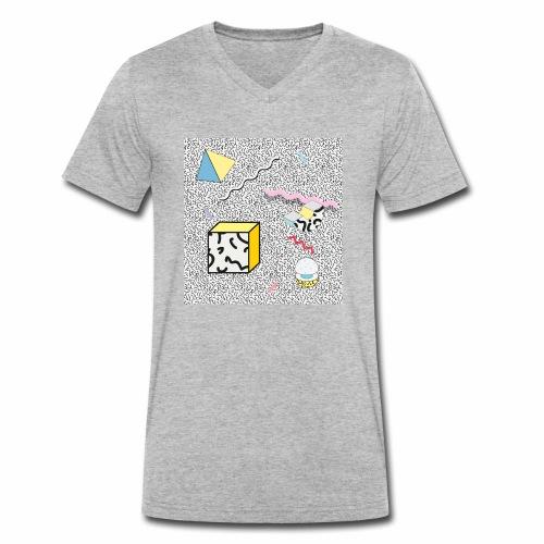 memphis design, Retro, Vintage, 80er Jahre - Männer Bio-T-Shirt mit V-Ausschnitt von Stanley & Stella