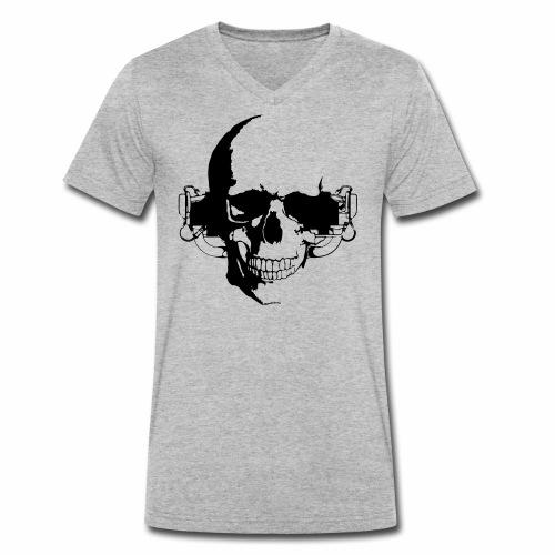 O 360 Skull - Männer Bio-T-Shirt mit V-Ausschnitt von Stanley & Stella