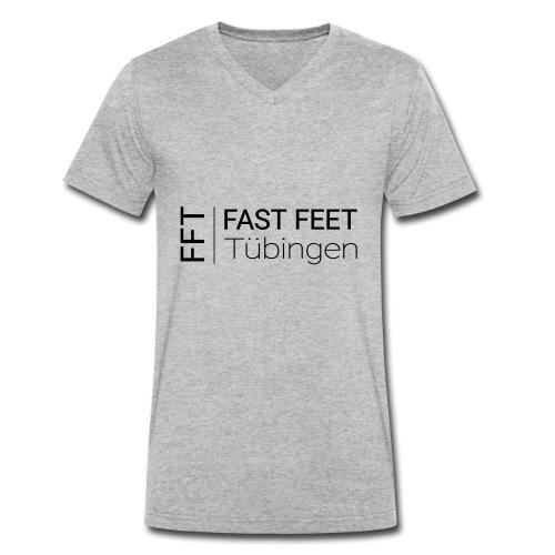Fast Feet Tübingen - Text-Logo - Männer Bio-T-Shirt mit V-Ausschnitt von Stanley & Stella