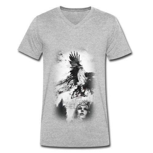Pray to Hell - Männer Bio-T-Shirt mit V-Ausschnitt von Stanley & Stella
