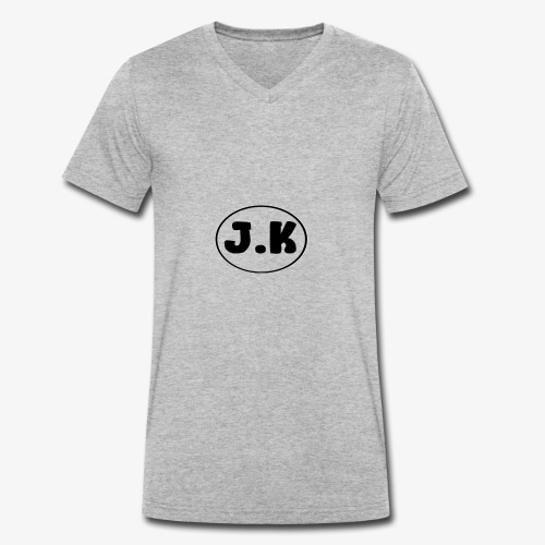 J K - Men's Organic V-Neck T-Shirt by Stanley & Stella