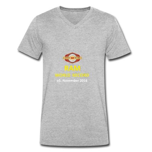 RWR gelb mit Datum (weiß) - Männer Bio-T-Shirt mit V-Ausschnitt von Stanley & Stella