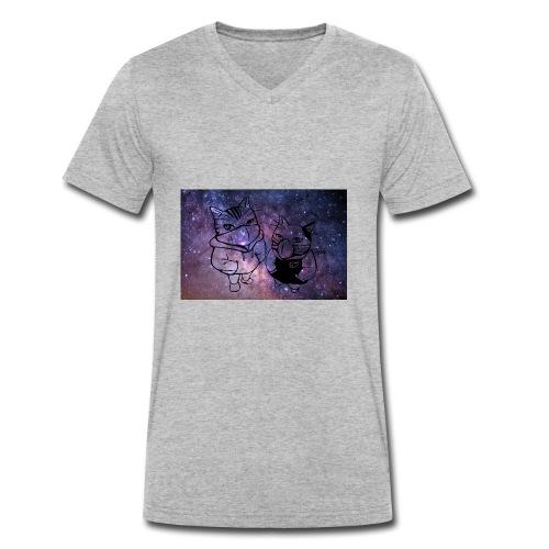Katzen Galaxie - Männer Bio-T-Shirt mit V-Ausschnitt von Stanley & Stella