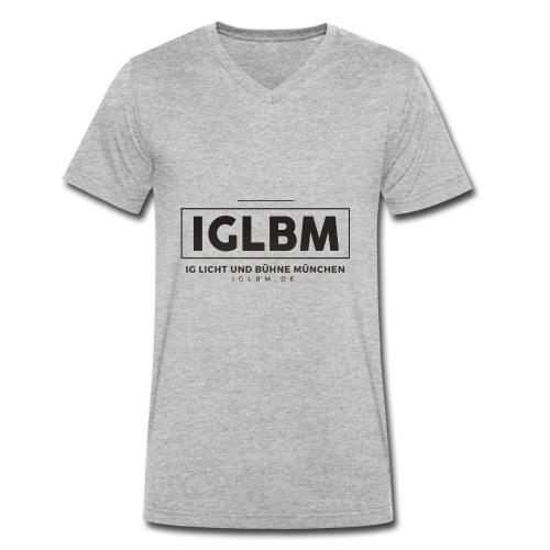 IGLBM Brust Logo - Männer Bio-T-Shirt mit V-Ausschnitt von Stanley & Stella
