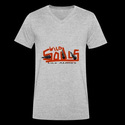 wildsouls - T-shirt ecologica da uomo con scollo a V di Stanley & Stella