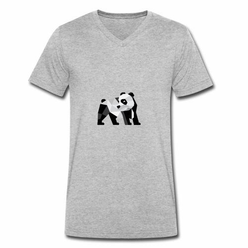 PANDA Modern - Männer Bio-T-Shirt mit V-Ausschnitt von Stanley & Stella