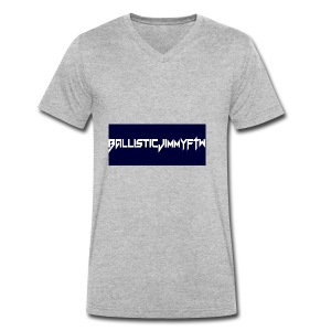 BallisticJimmyFTW Labelled Rectange White - Men's Organic V-Neck T-Shirt by Stanley & Stella
