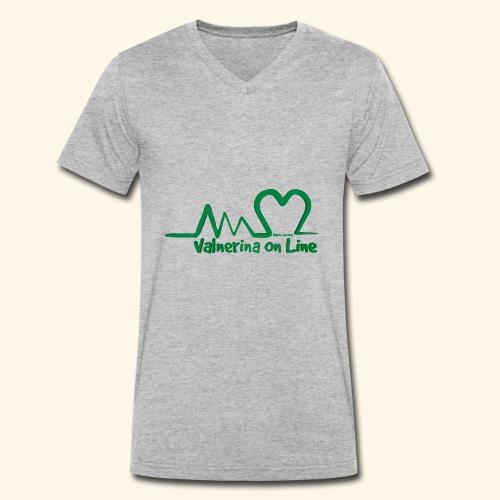 logo verde Associazione Valnerina On line - T-shirt ecologica da uomo con scollo a V di Stanley & Stella