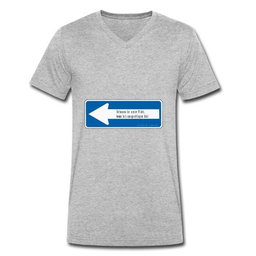 Drinnen ist mehr Platz, wenn ich ausgestiegen bin! - Männer Bio-T-Shirt mit V-Ausschnitt von Stanley & Stella