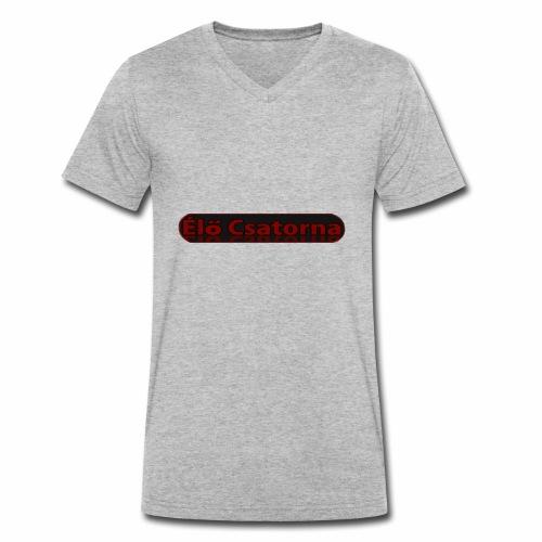 ÉlőCsatorna - Men's Organic V-Neck T-Shirt by Stanley & Stella