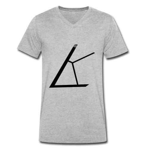 LKB Logo RD - Männer Bio-T-Shirt mit V-Ausschnitt von Stanley & Stella