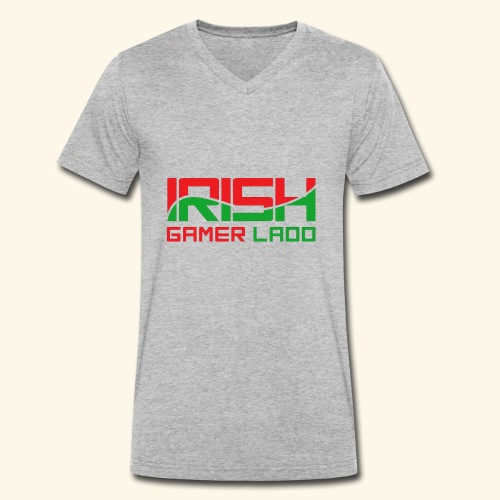 Irish Gamer Ladd - Men's Organic V-Neck T-Shirt by Stanley & Stella