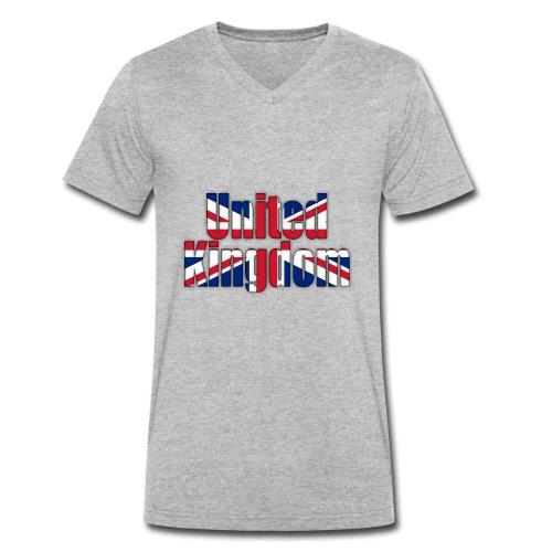 UK - Men's Organic V-Neck T-Shirt by Stanley & Stella