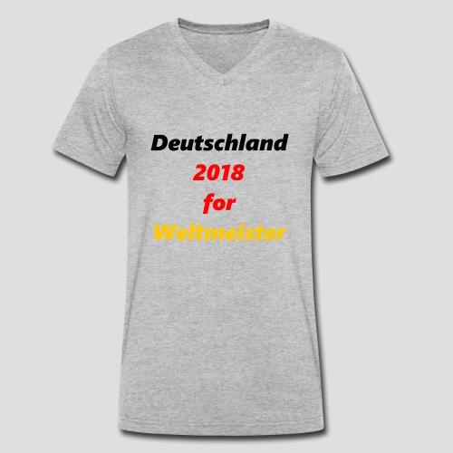Deutschland for Weltmeister - Männer Bio-T-Shirt mit V-Ausschnitt von Stanley & Stella