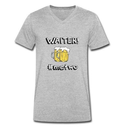 #metwo - Mannen bio T-shirt met V-hals van Stanley & Stella