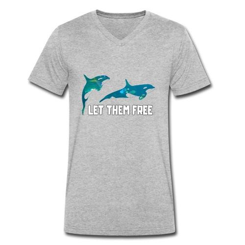 Let Them Free - T-shirt bio col V Stanley & Stella Homme