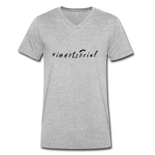 #imnotsocial logo - T-shirt ecologica da uomo con scollo a V di Stanley & Stella